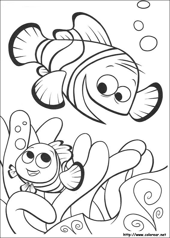 Dibujos de Buscando a Nemo para colorear en Colorear.net