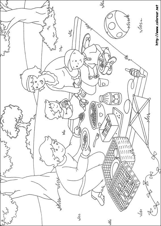 Dibujos de Caillou para colorear en Colorear.net
