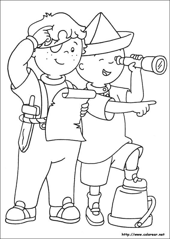 Dibujos para colorear de Caillou