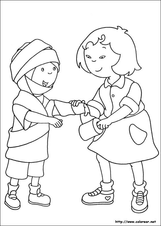 Dibujos de Caillou para colorear en Colorearnet