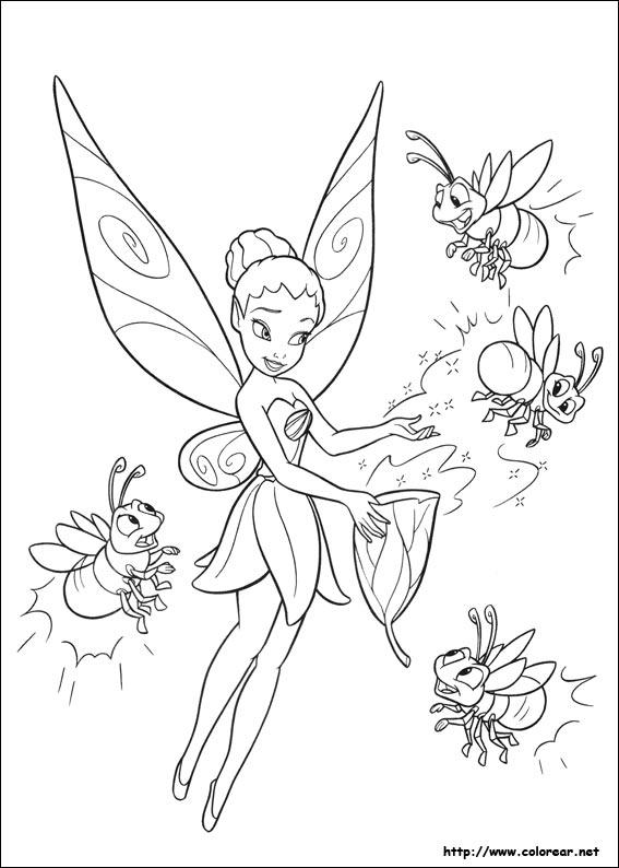 Dibujos de Tinkerbell para pintar e imprimir - Imagui