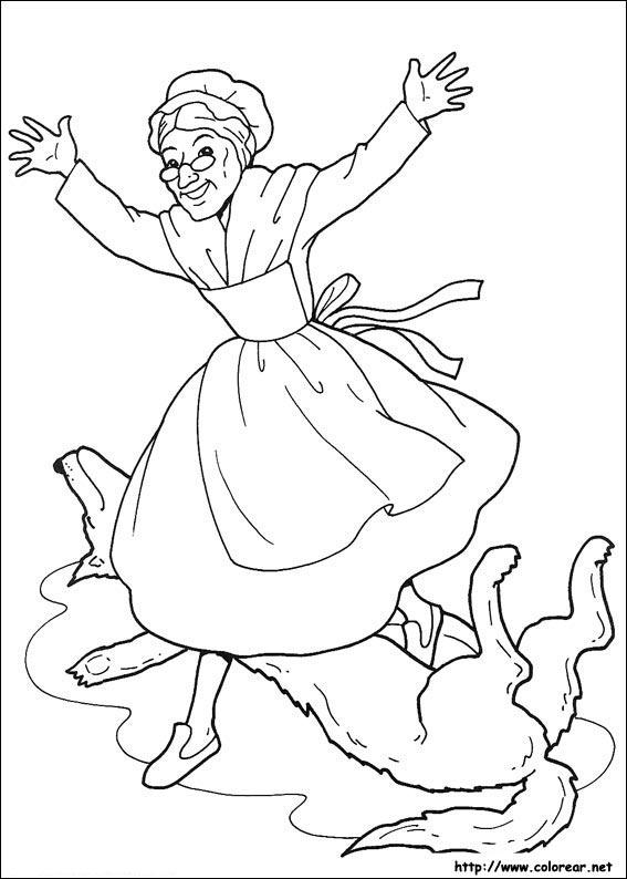 Dibujos de Caperucita Roja para colorear en Colorear.net