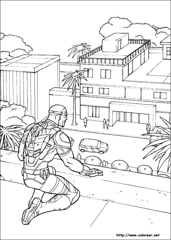 Dibujos para colorear de Capitán América : Guerra Civil