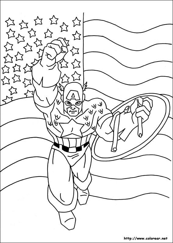 Dibujos para colorear de Capitn Amrica