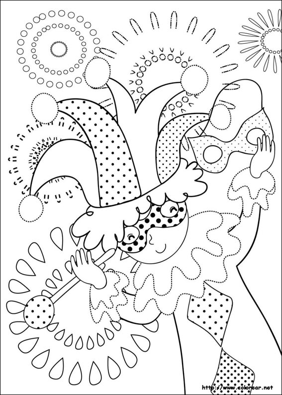 Dibujos de Carnaval para colorear en Colorear.net
