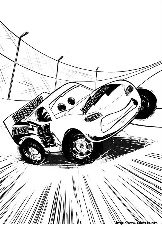 dibujos para colorear cars 3