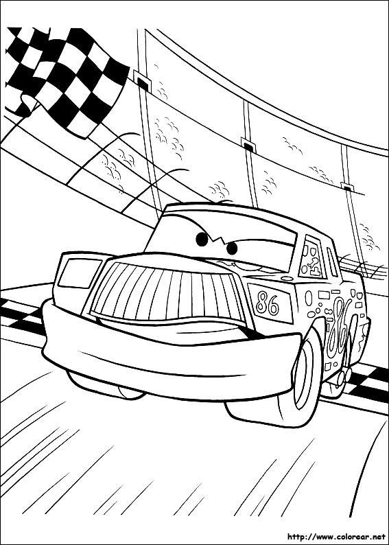 Dibujos de Cars para colorear en Colorearnet