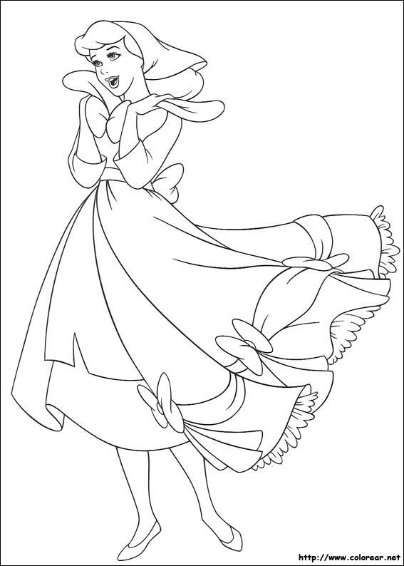 Dibujos para colorear de Cenicienta