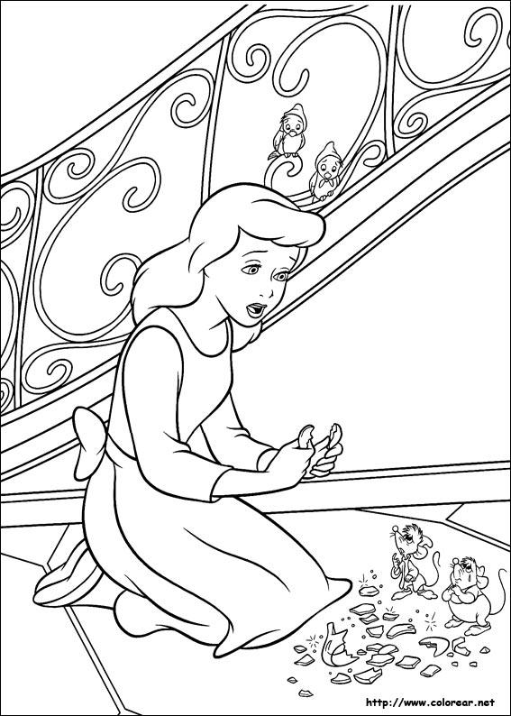 Dibujos de Cenicienta para colorear en Colorear.net