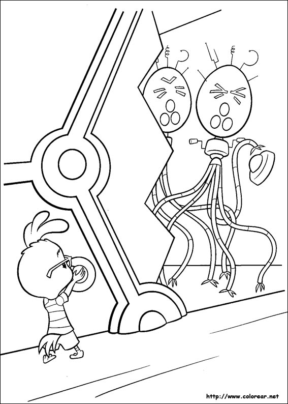 Dibujos para colorear de chicken little for Chicken little coloring page