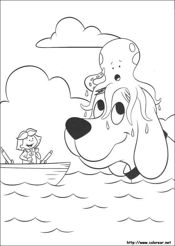 Dibujos para colorear de clifford for Clifford coloring pages