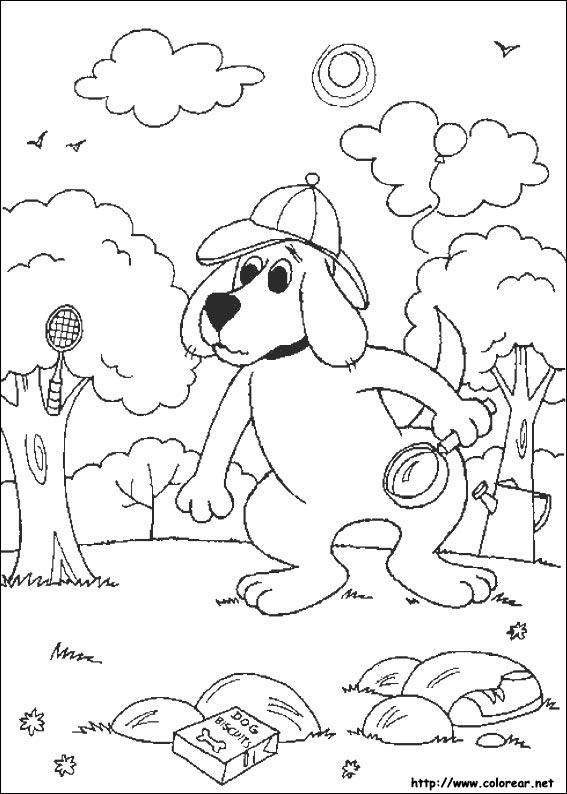 dibujos para colorear de clifford