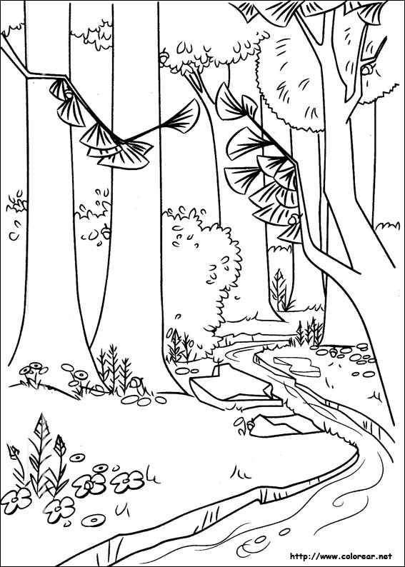 forest background coloring pages - photo#13