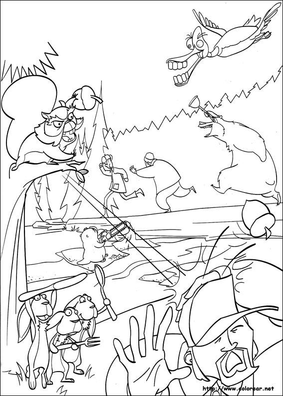 Dibujos para colorear de Colegas en el bosque