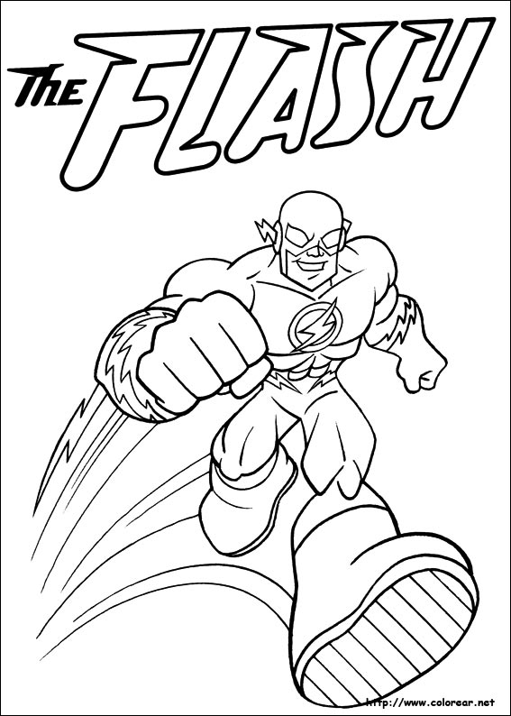 Free Coloring Pages Of Dc Comic Flash