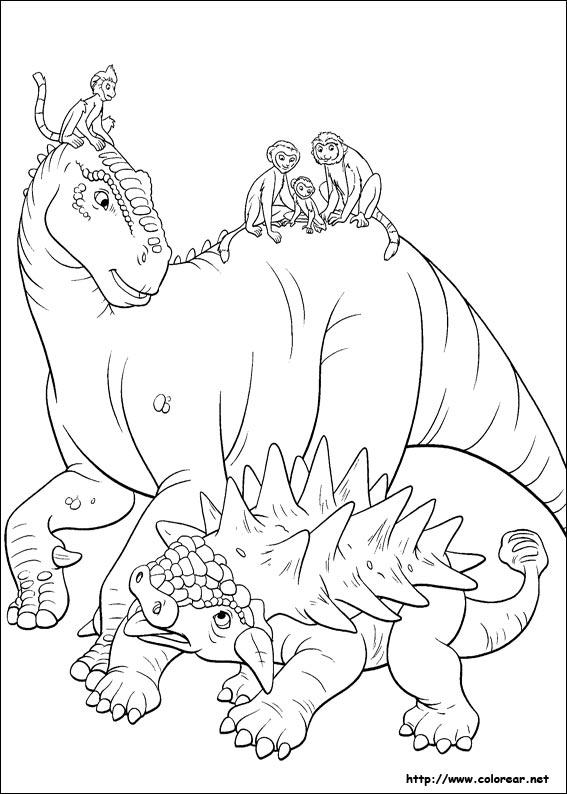 Dibujos de Dinosaurio para colorear en Colorear.net