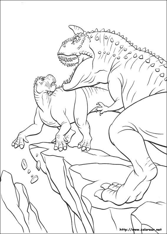 dinosaur fight coloring pages - photo#15