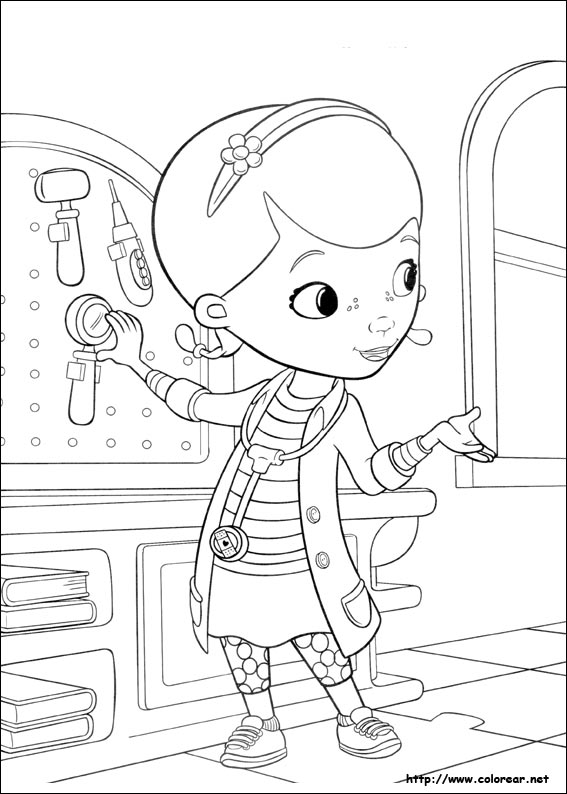 Doc Mcstuffins Coloring Pages Disney Junior : Disney junior doc mcstuffins coloring pages