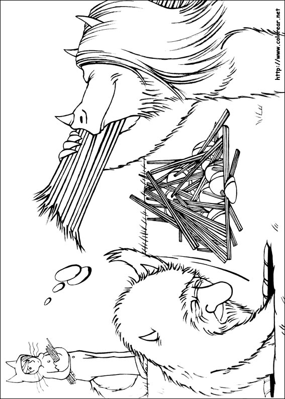 Where The Wild Things Are Max Coloring Page