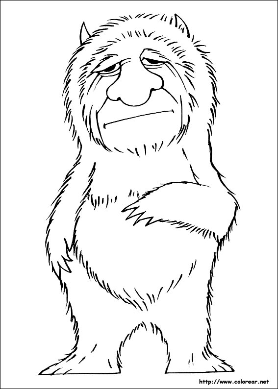 Where The Wild Things Are Black And White Coloring Pages