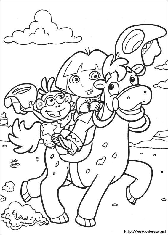 Dibujos de Dora la Exploradora para colorear en Colorear.net