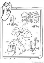 Dora Map Coloring Pages