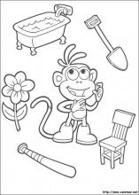 Dibujos de Dora la Exploradora para colorear en Colorearnet