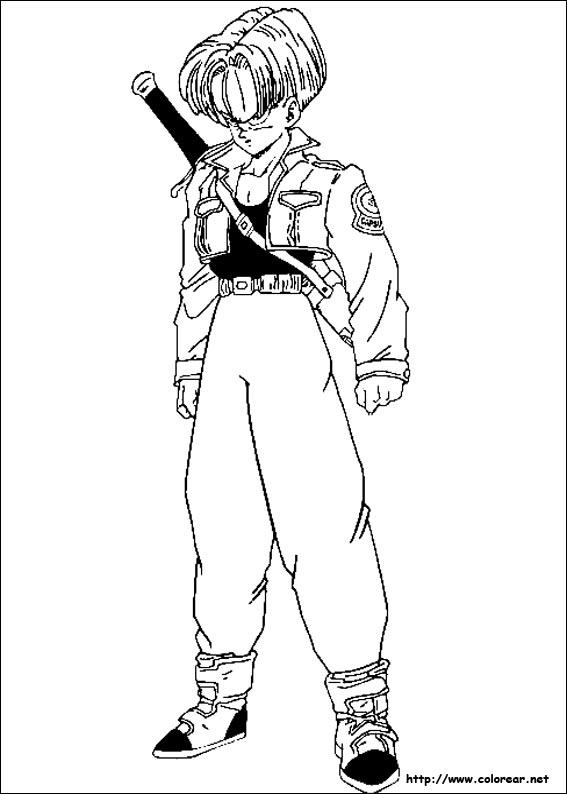 Dibujos de Dragon Ball Z para colorear en Colorearnet