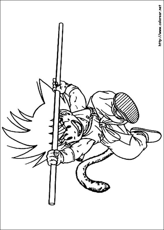 Dibujos de Dragon Ball Z para colorear