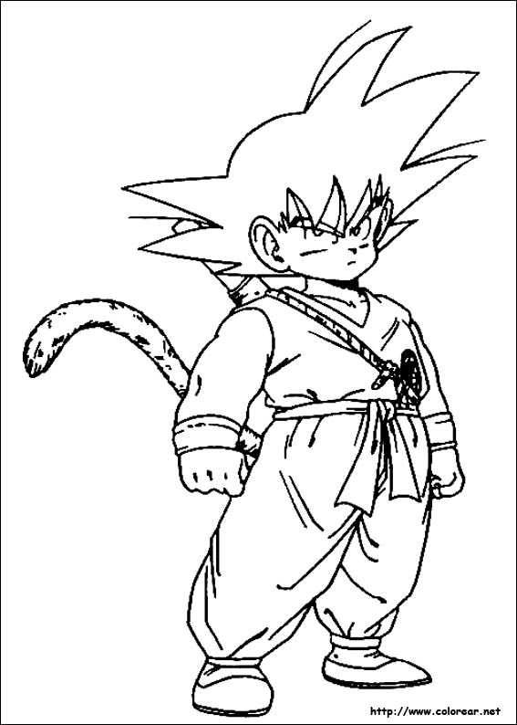 Worksheet. Dibujos para colorear de Dragon Ball Z