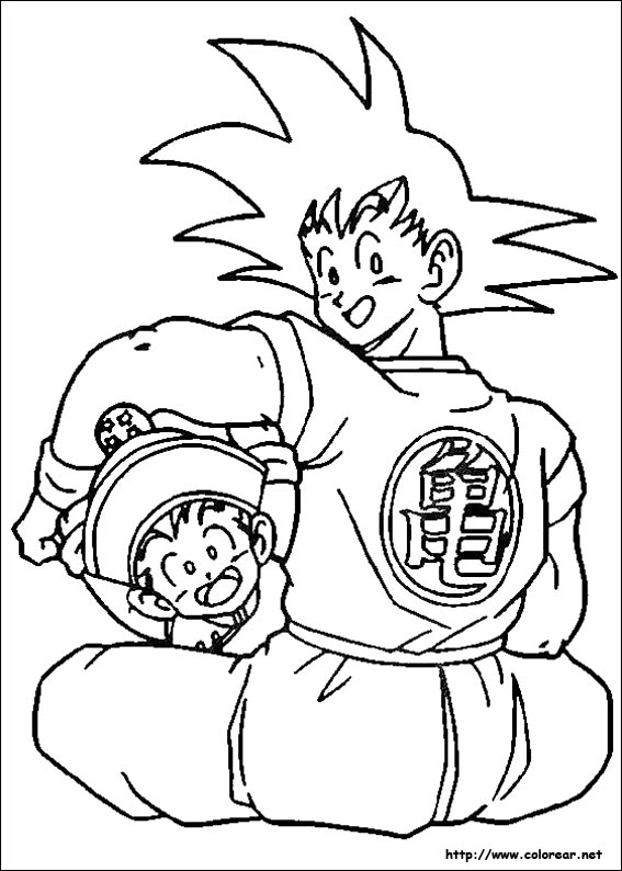 Dibujos de Dragon Ball Z para colorear en Colorear.net