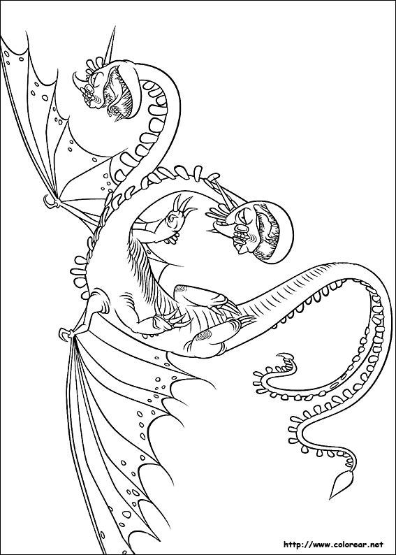 Dibujos de Cómo entrenar a tu Dragón para colorear en Colorear.net