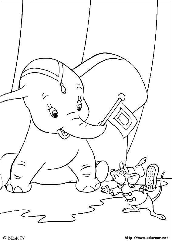 Dibujos para colorear de Dumbo