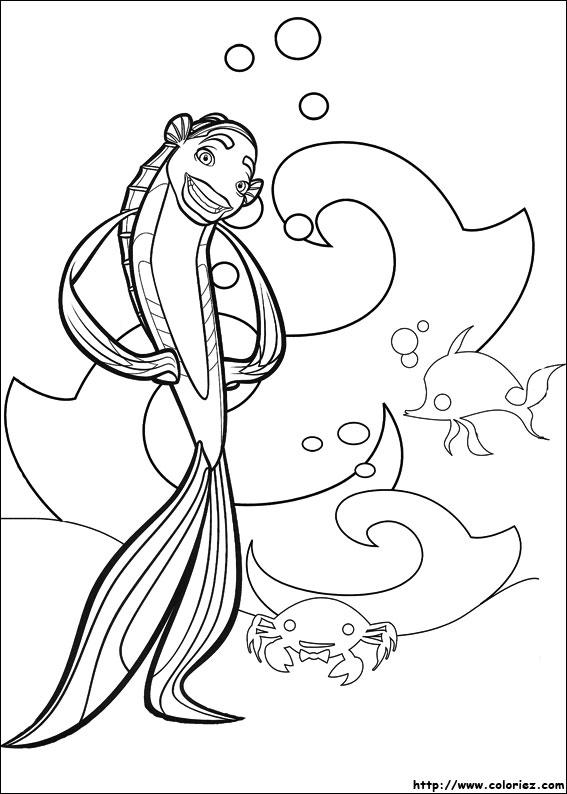 Dibujos para colorear de el espantatiburones for Imagenes de cuadros abstractos para colorear