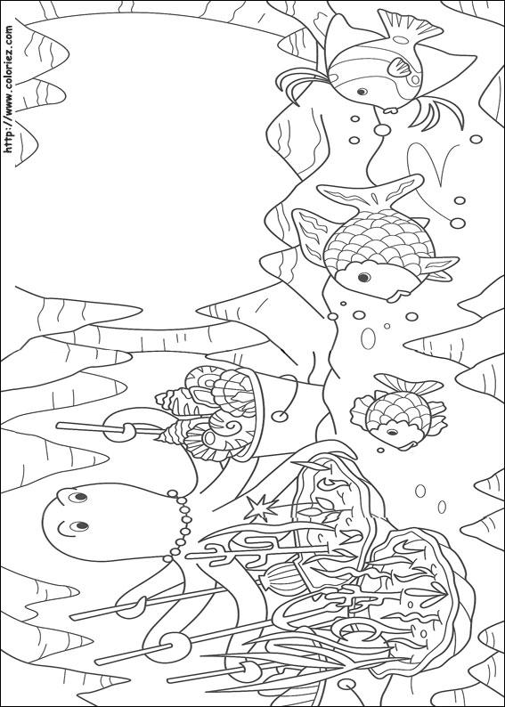 Dibujos para colorear de El Pez Arcoiris