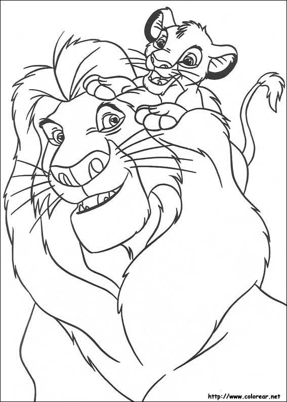 Dibujos para colorear de El Rey Len
