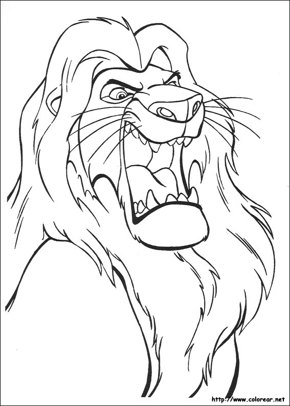 Dibujos para colorear de El Rey León