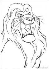 Dibujos de El Rey Len para colorear en Colorearnet