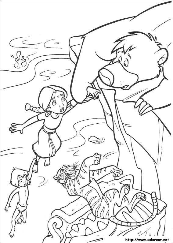 Dibujos para colorear de El libro de la Selva 2