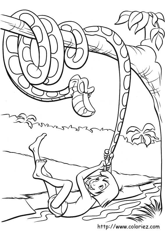 Dibujos para colorear de El libro de la Selva