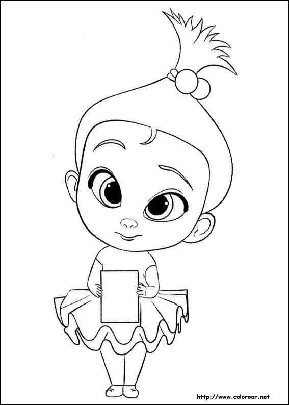 Dibujos Para Colorear De El Bebé Jefazo