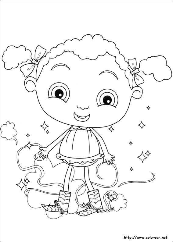 Dibujos para colorear de Los pies mágicos de Franny