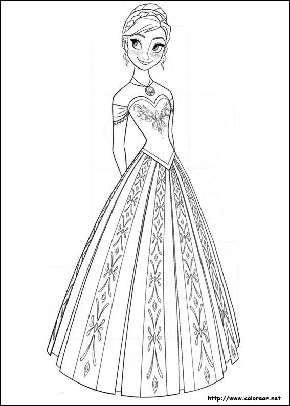 Dibujos de Frozen - el reino del hielo para colorear en Colorear.net