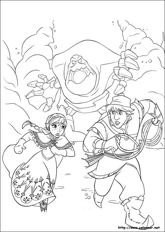 Dibujos de Frozen - el reino del hielo para colorear en
