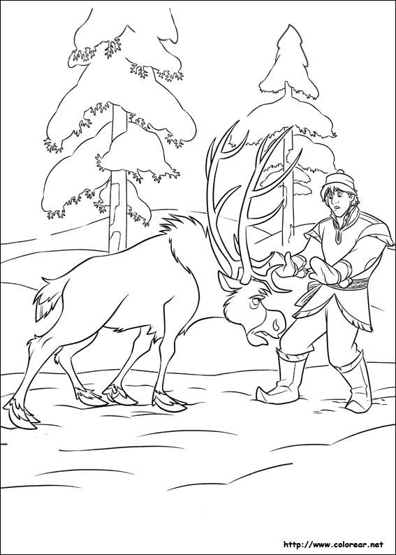 Dibujos para colorear de Frozen - el reino del hielo
