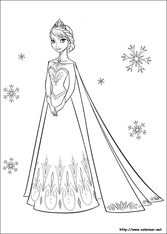 Dibujos para colorear de Frozen   el reino del hielo
