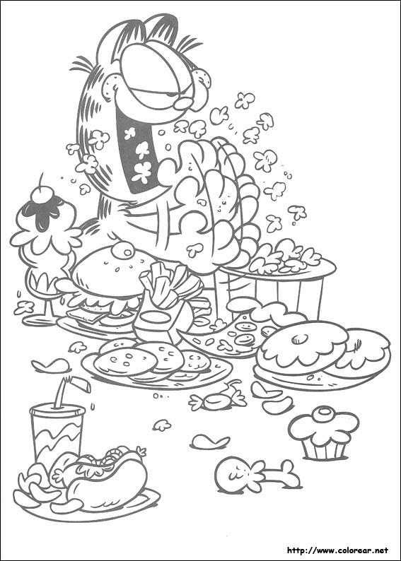 Kleurplaat Garfield Verjaardag Dibujos Para Colorear De Garfield