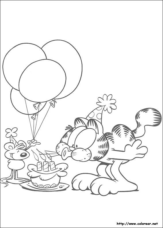 Dibujos para colorear de Garfield