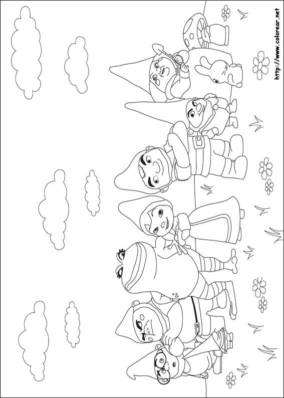Dibujos para colorear de Gnomeo y Julieta