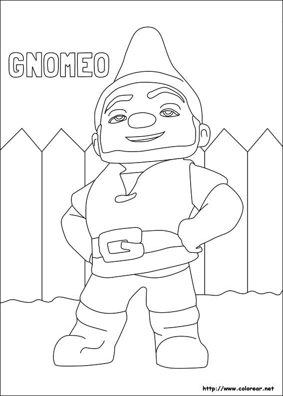 Dibujos de Gnomeo y Julieta para colorear en Colorear.net